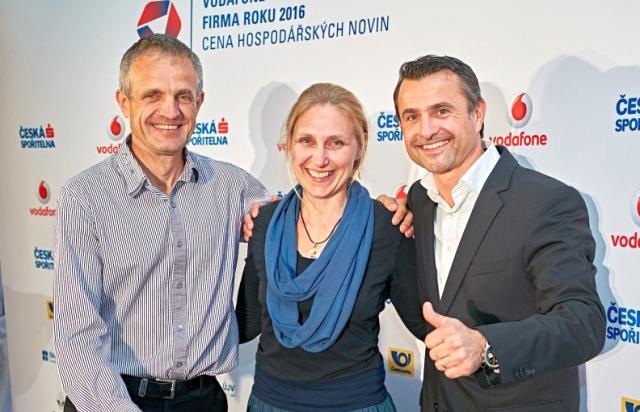 Vítězové krajského kola soutěže Firma roku 2016 v Královéhradeckém kraji.