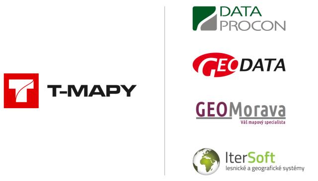 Partnery T-MAPY pro oblast dodávky GIS řešení se staly společnosti Geo Data, s.r.o., DATA PROCON s.r.o., Geomorava s.r.o. a IterSoft s.r.o.