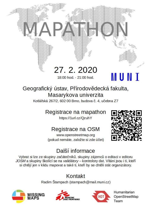 Registrace na Únorový Missing maps mapathon na Geografickém ústavu
