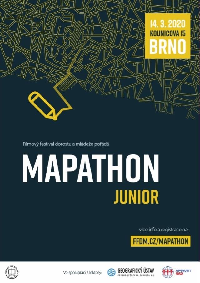 Mapathon Junior pořádá Filmový festival dorostu a mládeže ve spolupráci s Geografickým ústavem Přírodovědecké fakulty Masarykovy univerzity a vědecko-technickým klubem Amavet 962.